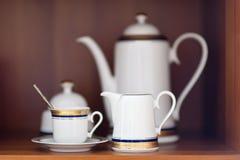 Het aardewerk van de thee Stock Afbeeldingen