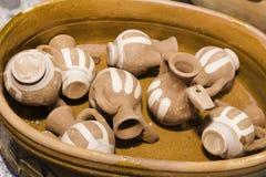 Het aardewerk van Handcraft Stock Afbeeldingen
