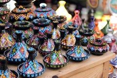 Het aardewerk van Tajines royalty-vrije stock afbeeldingen