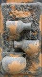 Het aardewerkfontein van de muur stock afbeelding