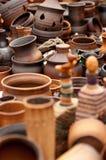 Het aardewerkkeramiek van de klei Stock Afbeeldingen