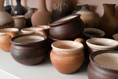 Het aardewerkkeramiek van de klei royalty-vrije stock afbeeldingen