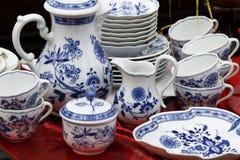 Het aardewerkreeks van het porselein Royalty-vrije Stock Afbeeldingen
