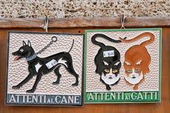 Het aardewerksiena San van Italië Toscaanse giminiano Stock Afbeeldingen