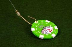 Het Aas van het casino royalty-vrije stock foto's