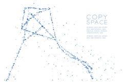 Het abstract Geometrisch Laag pixel van de veelhoek vierkant doos en Driehoeksklopje Vector Illustratie