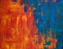 Het abstracte acryl schilderen stock foto's