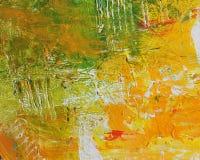 Het abstracte Acryl Schilderen van de Kunstenaar Royalty-vrije Stock Fotografie