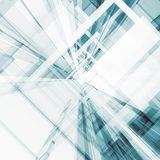 Het abstracte architectuur 3d teruggeven Stock Afbeelding