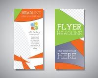 Het abstracte Art Gallery Polygonal Triangle Brochure-vectormalplaatje van het Vliegerontwerp Stock Foto