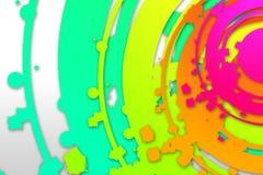 Het abstracte art. van het kleurenontwerp Stock Foto