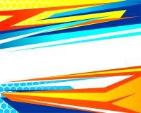 Het abstracte Baground-Rennen royalty-vrije illustratie