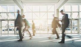 Het abstracte Bedrijfsmensen Lopen Stock Foto