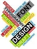 Het abstracte beeld maakte van woorden die met D met elkaar in verband brengen Royalty-vrije Stock Afbeeldingen