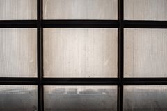 Het abstracte beeld van de bodemmening van doorzichtig dak stock afbeelding