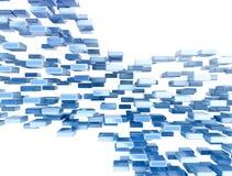 Het abstracte beeld van de gegevensstroom Stock Foto's