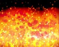 Het abstracte behang van brand rode oranjegele bokeh stock illustratie