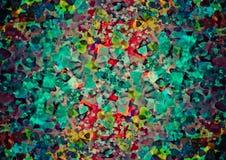 Het abstracte behang van harten kleurrijke bokeh Royalty-vrije Stock Foto's