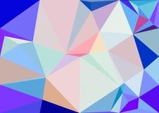 Het abstracte behang van pastelkleur lage polybokeh Stock Fotografie