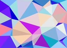 Het abstracte behang van pastelkleur lage polybokeh Stock Foto's