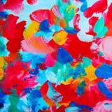 Het abstracte binnenlandse schilderen met bloembloemblaadjes Stock Foto's