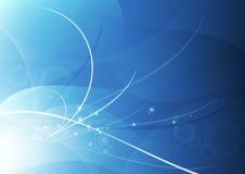Het abstracte Blauw Achtergrond van het Behang Stock Afbeelding