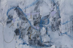 Het abstracte blauw van de graffititextuur Stock Fotografie