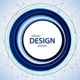 Het abstracte blauw van het ontwerpelement Royalty-vrije Stock Afbeelding