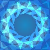 Het abstracte blauwe malplaatje van de gradiënt cirkelpresentatie Royalty-vrije Stock Afbeeldingen