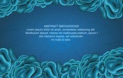 Het abstracte blauwe malplaatje van het krommeontwerp. Vector Stock Foto's