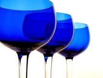 Het abstracte Blauwe Ontwerp van Glazen Royalty-vrije Stock Fotografie