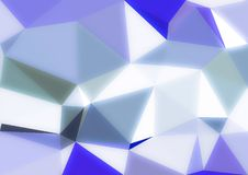 Het abstracte blauwe purpere behang van kleuren glanzende lage polybokeh Stock Foto's