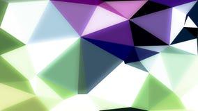 Het abstracte blauwe purpere groene behang van kleuren glanzende lage polybokeh Royalty-vrije Stock Fotografie