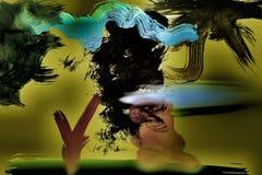 Het abstracte Blazen in de wind Royalty-vrije Stock Afbeelding