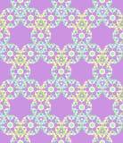 Het abstracte bloemen naadloze patroon van het pastelkleurkant op lichtrose backg Stock Afbeelding