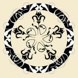 Het abstracte bloemenpatroon van Mandala Circular Vector royalty-vrije illustratie