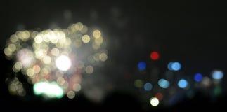 Het abstracte Bokeh vage kleurenlicht kan achtergrond gebruiken Stock Afbeelding