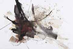 Het abstracte borstel schilderen Royalty-vrije Stock Fotografie