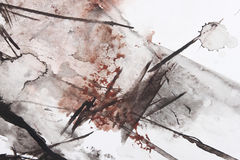 Het abstracte borstel schilderen Royalty-vrije Stock Afbeeldingen