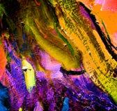 Het abstracte chaotische schilderen door olie op canvas Royalty-vrije Stock Fotografie