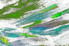 Het abstracte chaotische schilderen door olie op canvas Stock Fotografie