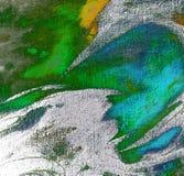 Het abstracte chaotische schilderen door olie op canvas, illustratie, backg Stock Foto's