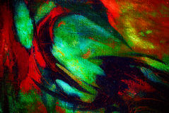 Het abstracte chaotische schilderen door olie op canvas, illustratie, backg Stock Afbeelding