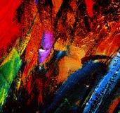 Het abstracte chaotische schilderen door olie op canvas, illustratie, backg royalty-vrije stock foto