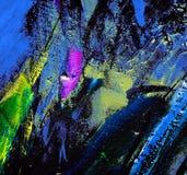 Het abstracte chaotische schilderen, illustratie Stock Afbeelding