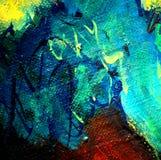 Het abstracte chaotische schilderen, illustratie, achtergrond Royalty-vrije Stock Foto's