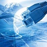 Het abstracte concept van de netwerkconnectiviteit Stock Afbeelding