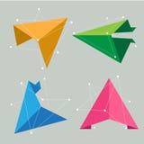 Het abstracte concept van de origamiwetenschap Stock Afbeeldingen