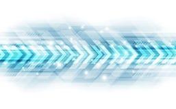 Het abstracte concept van de snelheidstechnologie Vector illustratieachtergrond stock illustratie