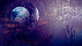 Het abstracte concept van de wereldkaart Royalty-vrije Stock Afbeelding